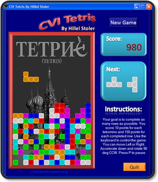 CVI Tetris - Keep it simple.