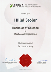 Hillel Stoler - Mechanical Engineer (BSc)