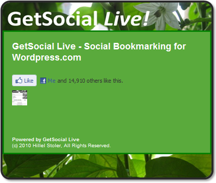 Facebook Like via GetSocial Live